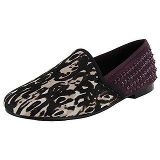 Gentle Souls Womens Edge-Y Calf Hair Spiked Fashion Loafers - 6 medium (b,m)