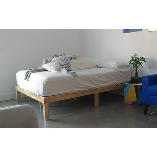 Priage by Zinus Solid Wood Platform Bed, Natural