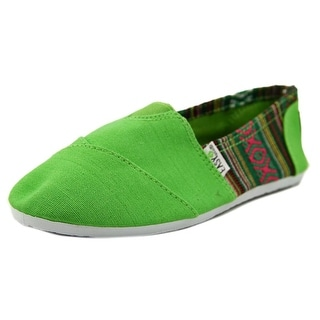 Easy USA Jessica Women Round Toe Canvas Green Loafer