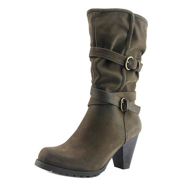 Madeline Girl Need Women Round Toe Synthetic Brown Mid Calf Boot