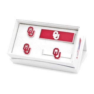Oklahoma Sooners Cufflinks, Money Clip and Tie Bar Gift Set - Red