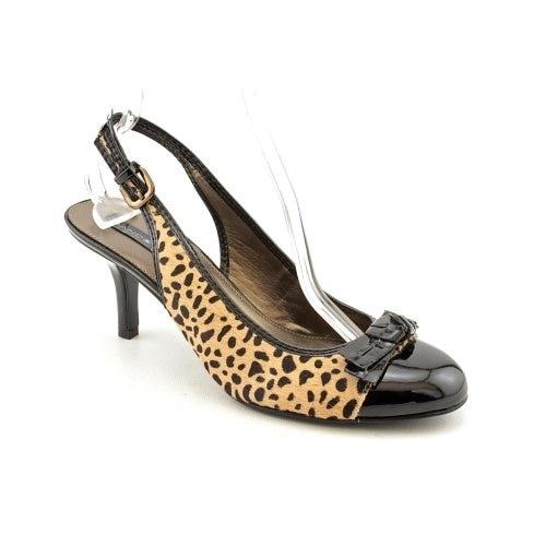 Bandolino Womens Milady Fur Peep Toe SlingBack Classic Pumps - 5.5