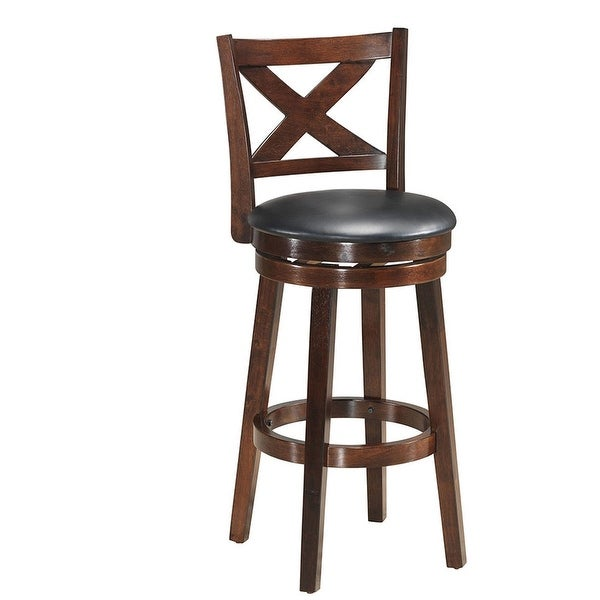 """Swivel Counter Height X-back Upholstered Dining Chair-29"""""""