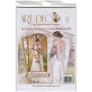 Debbi Moore A4 Cardmaking Kit W/24 Sheets-Art Deco Wedding #2