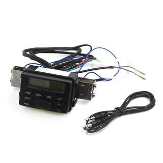 12V Waterproof Motorcycle Handlebar Mount FM Audio Radio MP3 Player Sysyem