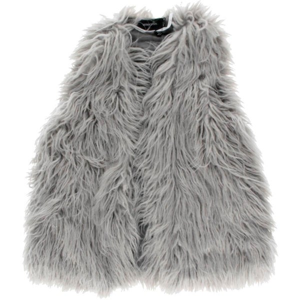 Minkpink Womens Endless Casual Vest Shaggy Faux Fur