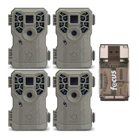Stealth Cam PX14X P 10MP Trail Game Camera (4-Pack) with Reader