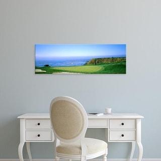 Easy Art Prints Panoramic Image 'Pebble Beach Golf Course, Pebble Beach, Monterey County, California, USA' Canvas Art
