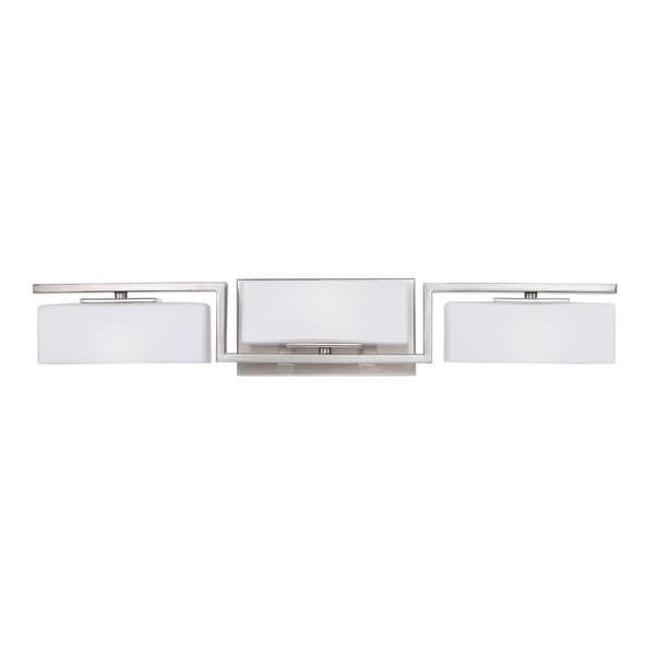 Designers Fountain 6713 Meridian 3-Light Vanity Light - satin platinum