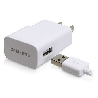 Samsung Travel Charger 2 A Wall Charger w/ Detachable USB to micro USB cable