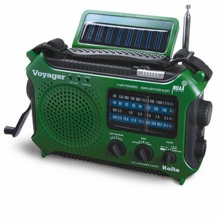 4-Way Powered Emergency Weather Alert Radio With Cell Phone Charger - Green - 6 in. x 11 in. x 3 in.