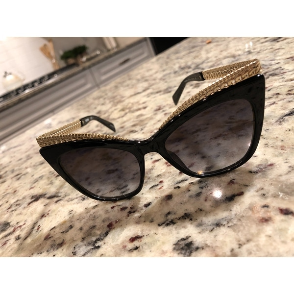 7cfcbd6b0a0 Shop Moschino Cat-Eye 009/S 807 FQ Women Black Frame Gold Gradient Mirror  Lens Sunglasses - On Sale - Free Shipping Today - Overstock - 20714743