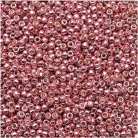 Toho Round Seed Beads 15/0 PF553 - Permanent Finish Galvanized Pink Lilac (8g)