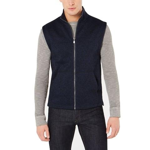 Original Penguin Mens Vest Navy Blue Size 2XL Polar Fleece Full Zip