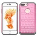 Insten Hard PC/ Silicone Dual Layer Hybrid Rubberized Matte Case Cover with Diamond For Apple iPhone 7 Plus - Thumbnail 1