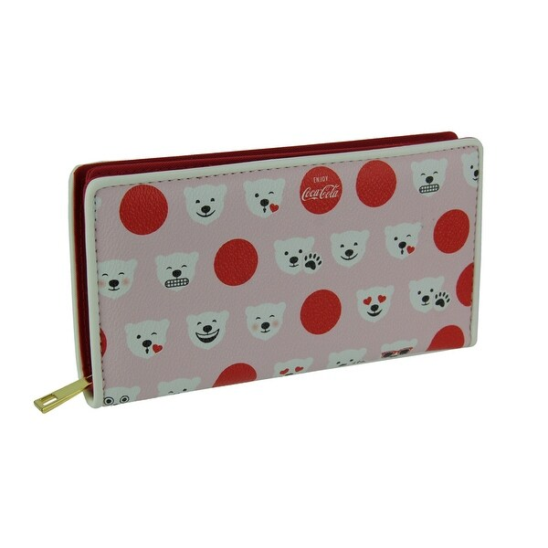Pink and Red Coca-Cola Polar Bear Fashion Wallet