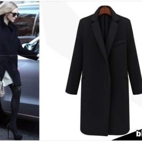 Women's Classic Cashmere Wool Blend Coat