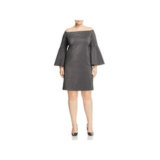 Vince Camuto Womens Plus Cocktail Dress Bell Sleeves Off-The-Shoulder - 1x