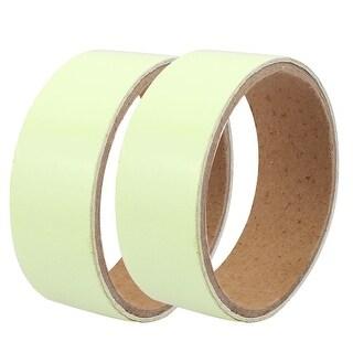 2Pcs 3cmx1M Self-adhesive PET PVC Luminous Tape Sticker Stage Decor Light Green
