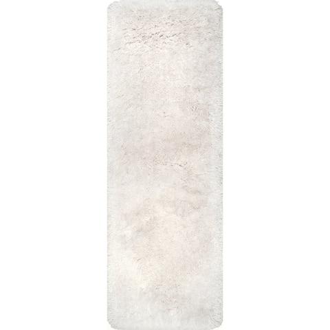 nuLOOM Handmade Soft and Plush Solid Shag Rug