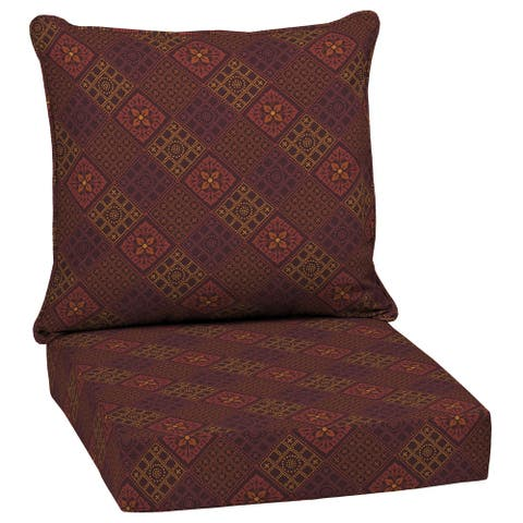 Arden Selections Azulejo Southwest Outdoor 24 in. Conversation Set Cushion - 24 (L) x 24 (W) x 5.75 (H)