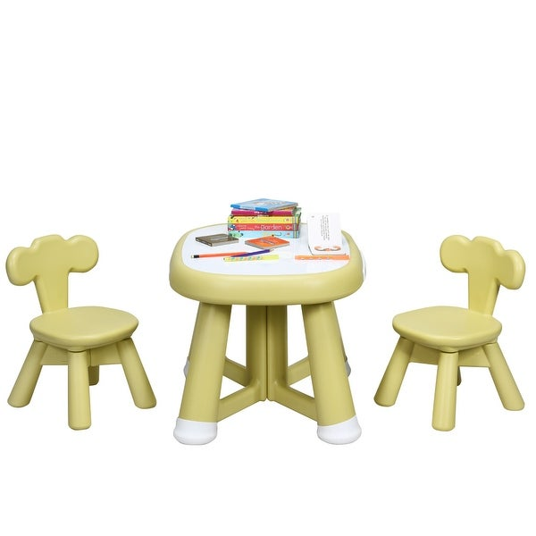 Childrens Table /& Chairs Set Blue Drawing play toy