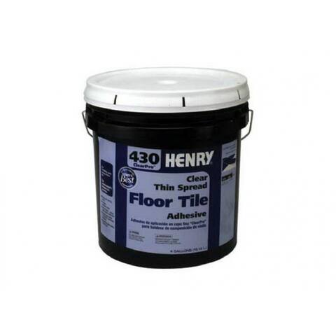HENRY 12102 ClearPro Clear VCT Floor Adhesive, #430, 4 Gallon