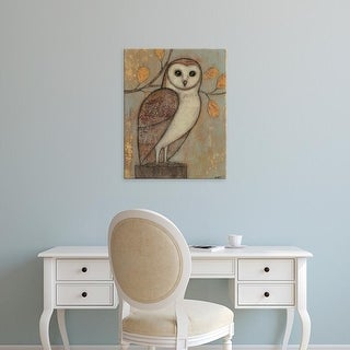 Easy Art Prints Norman Wyatt's 'Ornate Owl I' Premium Canvas Art