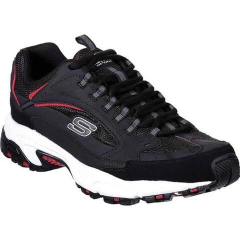 Skechers Men's Stamina Cutback Training Shoe Black/Red
