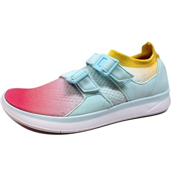 22571d4b1fb Nike Women  x27 s Air Sockracer Flyknit White Glacier Blue-Racer Pink.  Click to Zoom