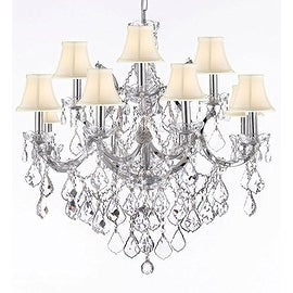 Spectra Trimmed Crystal Maria Theresa Chandelier Lighting H30 x W28