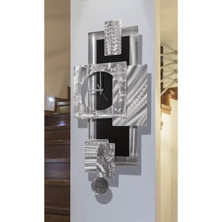 Link to Statements2000 Large Metal Wall Art Clock Pendulum Modern Abstract Silver Black Sculpture Decor by Jon Allen - Titan Clock Similar Items in Decorative Accessories