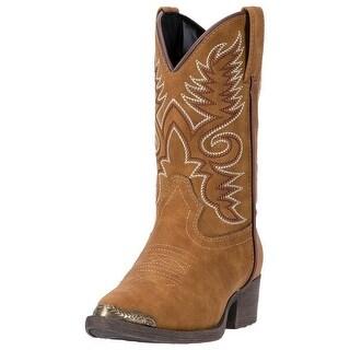 Laredo Western Boots Boys Tobi Cowboy Western Stitching Brown LC2222