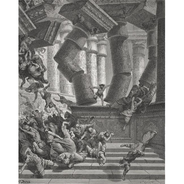 Shop Engraving From The The Dore Bible Illustrating Judges Xvi 28 To