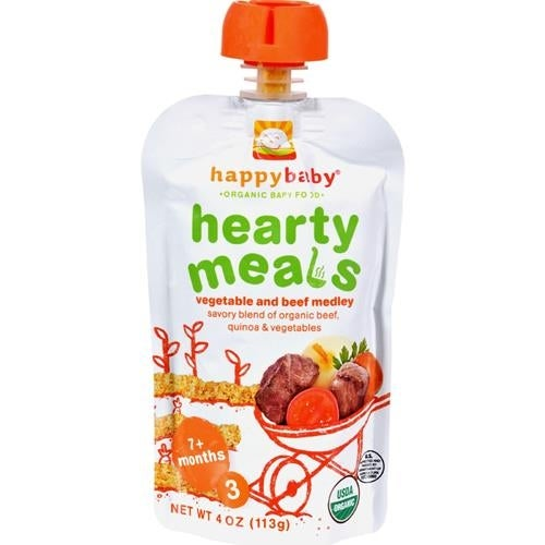 Happy Family - Organic Baby Food Stage 3 - Beef Stew ( 16 - 4 OZ)
