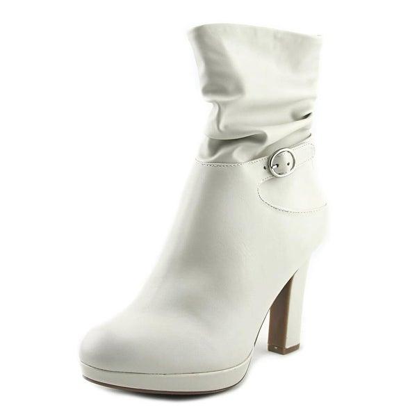 Impo Otis Women Round Toe Synthetic White Mid Calf Boot