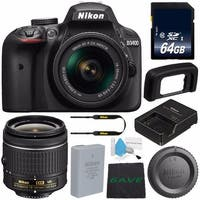 Nikon D3400 DSLR Camera with AF-P 18-55mm VR Lens (Intl Model) (Starter Bundle)