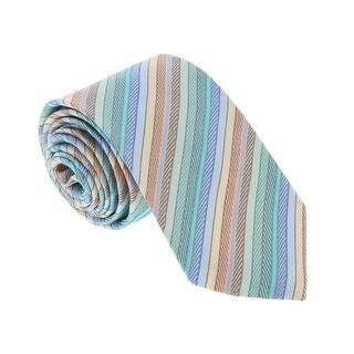 Missoni U4707 Green/Blue Candy Cane 100% Silk Tie - 60-3