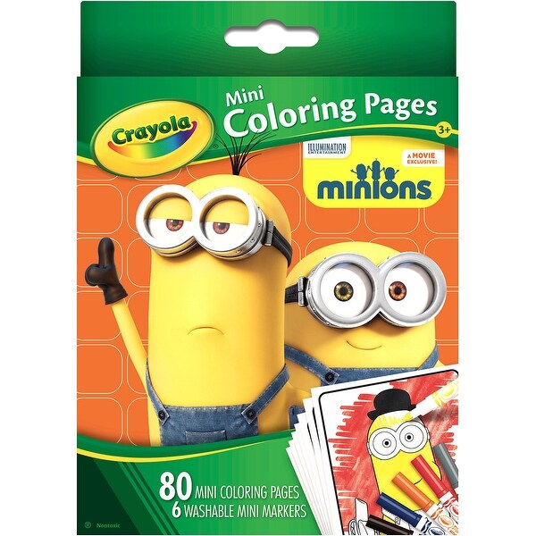 Crayola Mini Coloring Pages -Minions