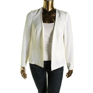 Laundry by Shelli Segal Womens Pleated Back Open Front Collarless Blazer