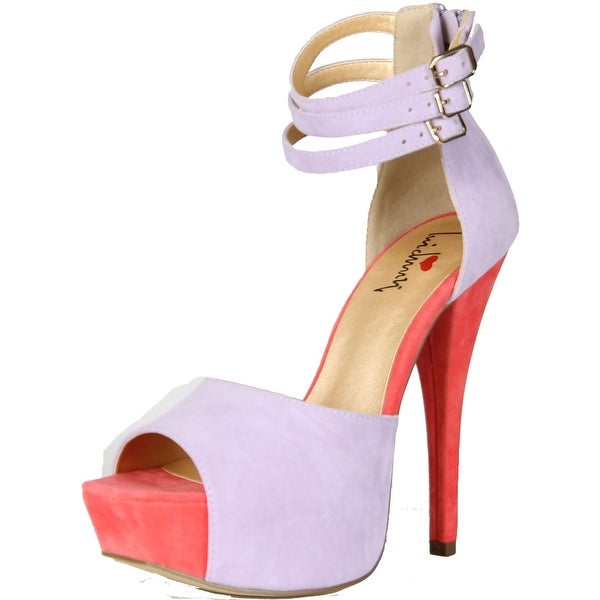 Luichiny Women's Joe Lynn High Heel Pumps Shoes - Lilac/Rose