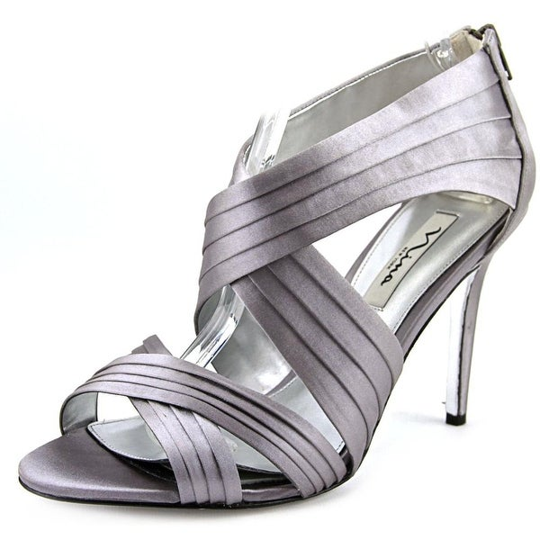 Nina Melizza Women Open Toe Synthetic Silver Sandals
