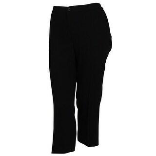 Lauren by Ralph Lauren Women's Polyester Fabric Flat Front Dress Pants - Black - 8P