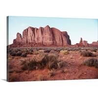 Premium Thick-Wrap Canvas entitled Desert landscape of Monument Valley, Arizona