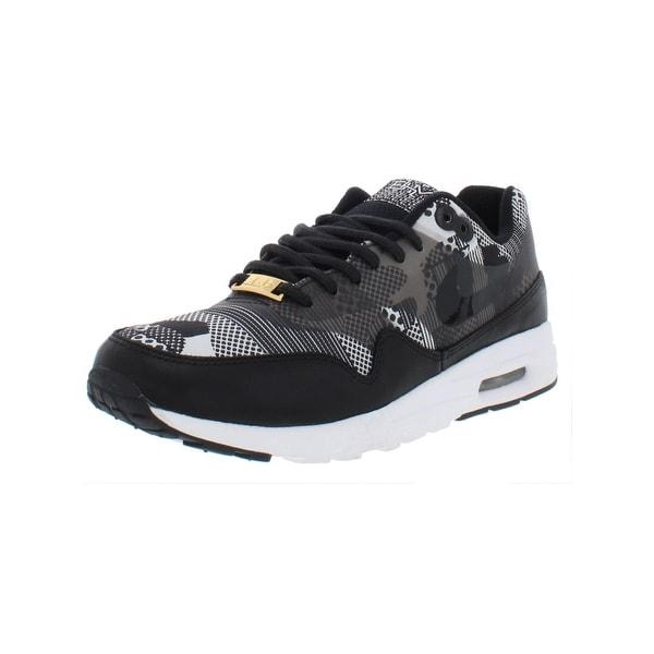 hot sale online d1b2e b891f Shop Nike Womens Air Max 1 Ultra BHM QS Athletic Shoes Printed Low ...