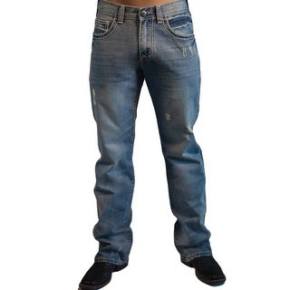 B. Tuff Western Denim Jeans Mens Bootcut Ripped Light Wash