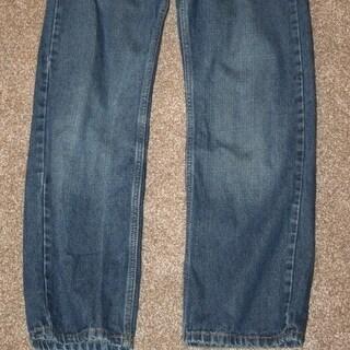 LEVI'S Denim Jeans 505 Straight 27 x 25 1/2 Boys 14 Regular Blue