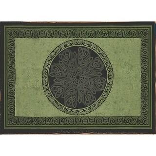 Handmade Celtic Wheel Circle Tie Dye Tapestry Tablecloth Spread Full 88x104