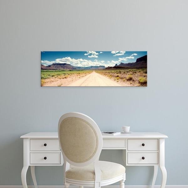 Easy Art Prints Panoramic Images's 'Dirt road passing through a landscape, Onion Creek, Moab, Utah, USA' Canvas Art