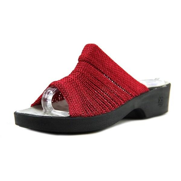 Confortina Slide Sandals Women Open Toe Canvas Red Slides Sandal